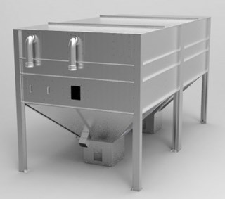 view pellet silo with 2 outlets products
